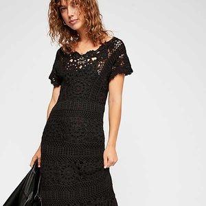 NWT Free People crochet maxi dress